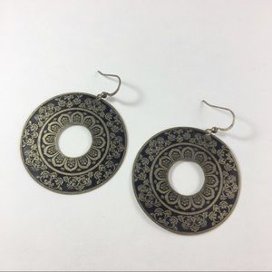 Jewelry - NWOT brass circle earrings